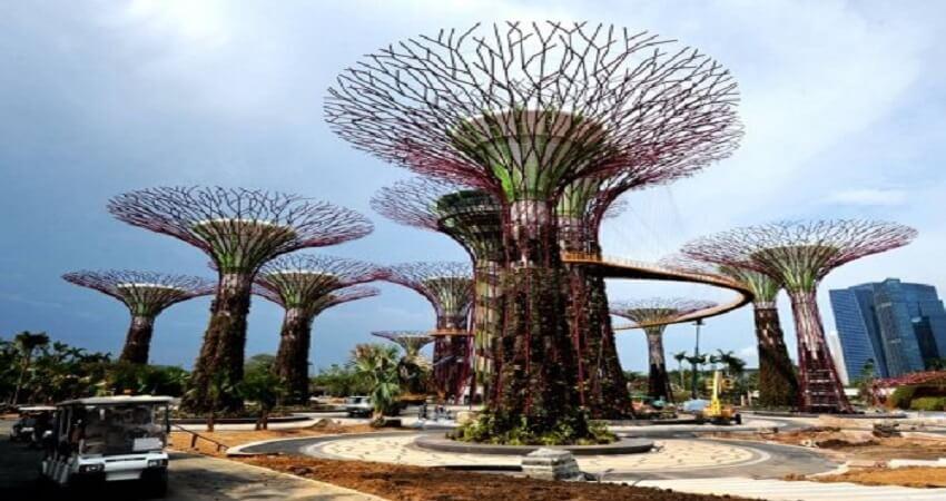 Jardin de la baie singapour amperel for Jardin hispano mauresque